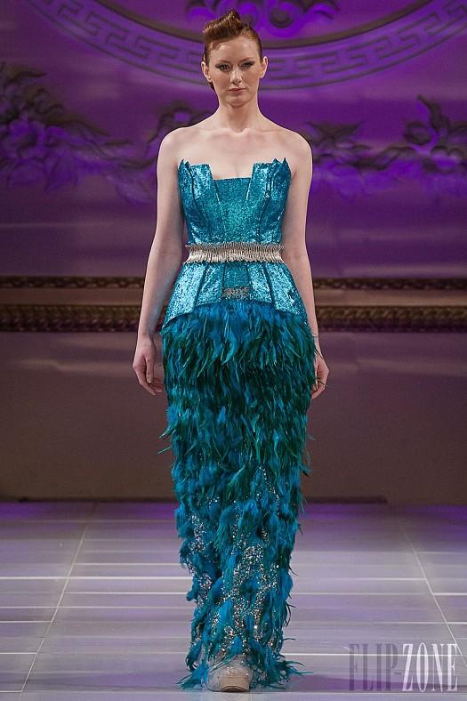 Turkuaz Kuşaklı Tüy Detaylı Abiye Elbise Modelleri