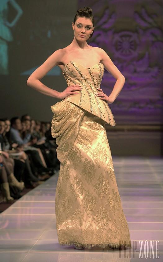 Golden Asimetrik Askısız Şık Gece Elbisesi Abiye Modeli