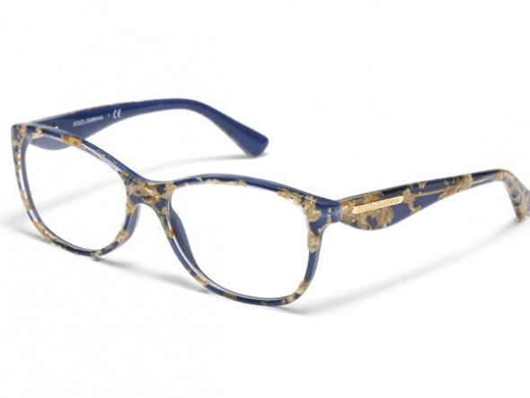 Dolce Gabbana Mavi Golden Çerçeveli Gözlük Modelleri