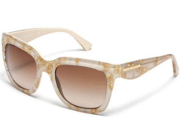 Dolce & Gabbana Fildişi Beyaz Golden Çerçeveli Güneş Gözlüğü Modelleri