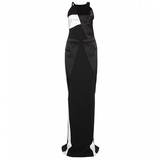 Monokrom Uzun Dar Elbise Modeli
