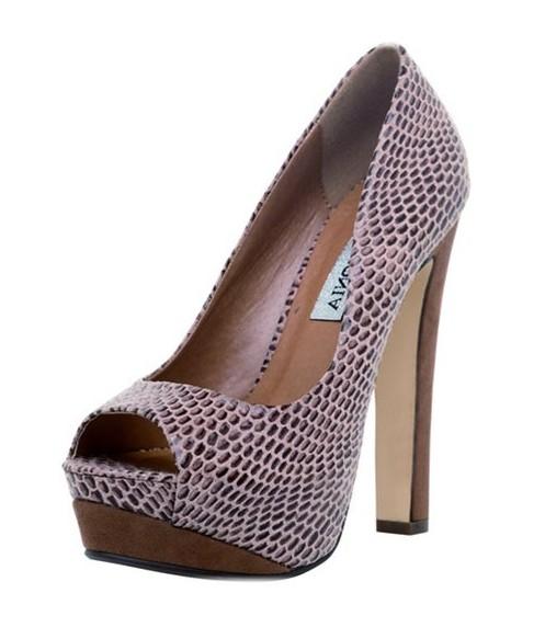 Lazer Kesimli Burnu Açık Gece Ayakkabı Modelleri