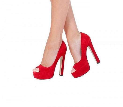 Kırmızı Rahat Gece Ayakkabıları Şık Modeller