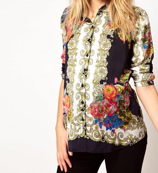 Çiçek Desenli Şık Hamile Giyim Üst Elbise, Kıyafet Modeli