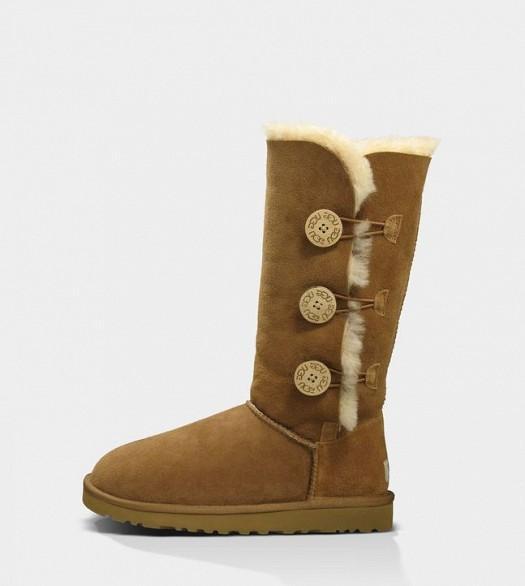 Yandan Düğme Detaylı Kışlık Bayan Çizme Modelleri