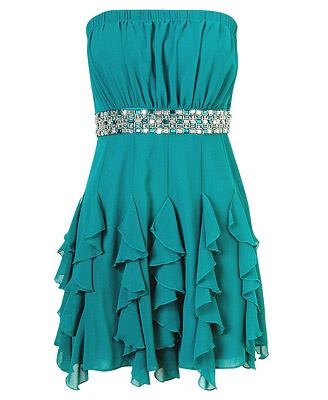 Kısa Elbise Modelleri Yeşil Renk