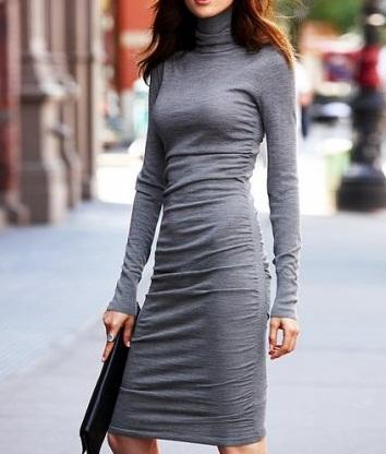 Uzun Kollu Kısa Elbise Modeli