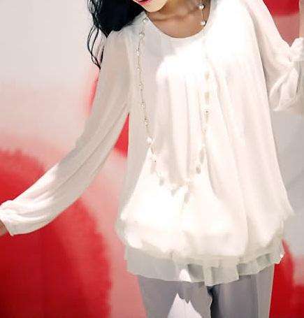 Beyaz Şifon Elbise Modelleri