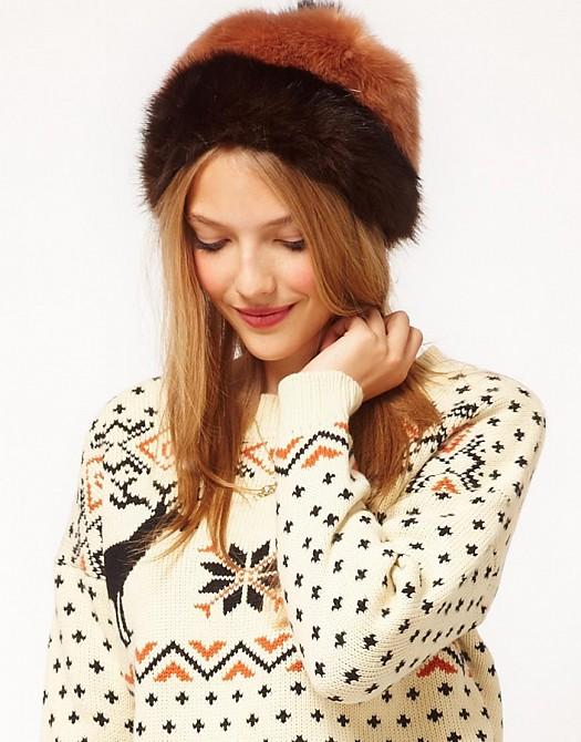 Sonbahar Kış Kürklü Yün Bere Şapka