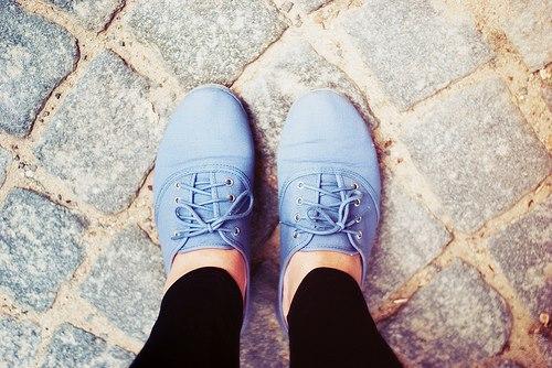 Mavi Oxford Bağcıklı Şık Ayakkabı Modeli