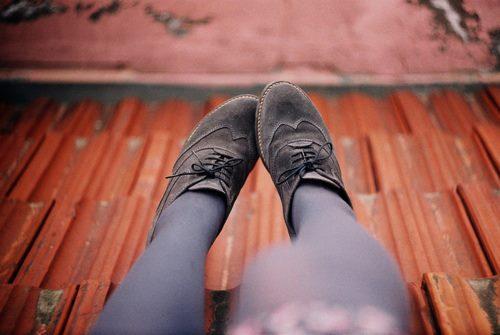 Siyah Bağcıklı Oxford Şık Tasarımlı Ayakkabı ile Kombin