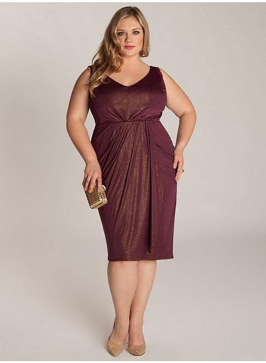 Büyük Beden Şık Tasarımlı Elbise, Kıyafet Modelleri Yeni Yıl
