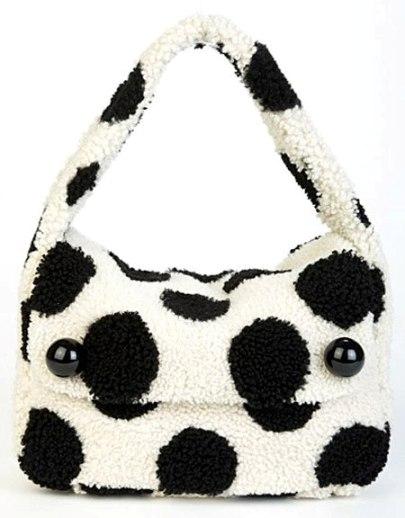 Marc Jacobs Siyah Beyaz Puanlı Çanta Modelleri
