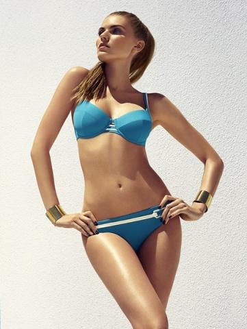 Deniz Mavisi Şık Tasarımlı Yeni Sezon Bikini Modelleri