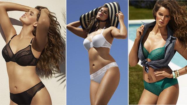 Siyah, Beyaz, Yeşil Şık Tasarımlı Büyük Beden İç Giyim Modelleri