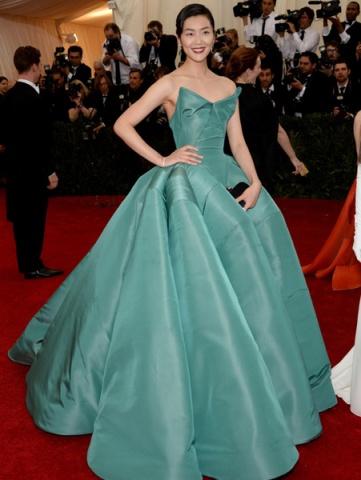 Prenses Kabarık Şık Elbise Met Gala Kırmızı Halı