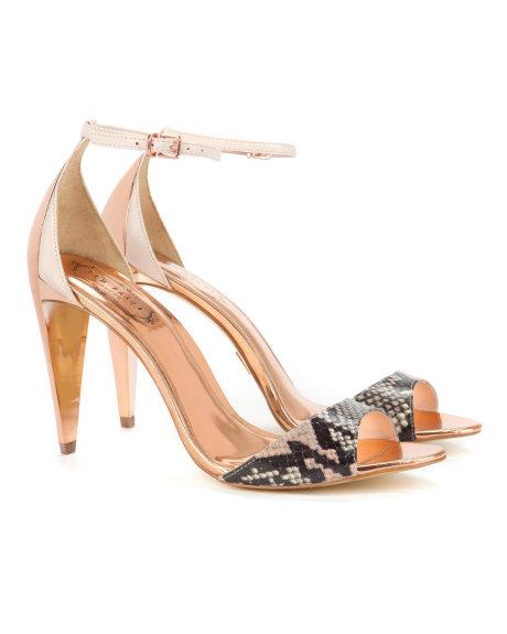 Ted Baker Burnu Açık Golden Şık Tasarımlı Ayakkabı Modelleri