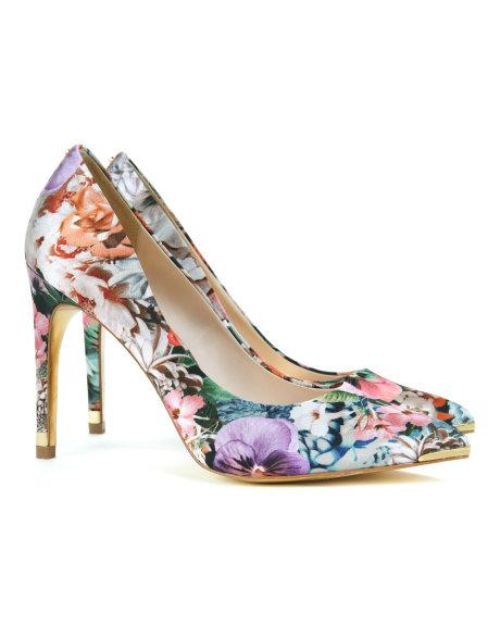 Ted Baker Çiçekli Yüksek Topuklu Şık Ayakkabı Modelleri