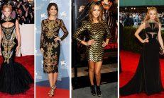 En Moda Barok Siyah ve Altın Rengi Kıyafetler