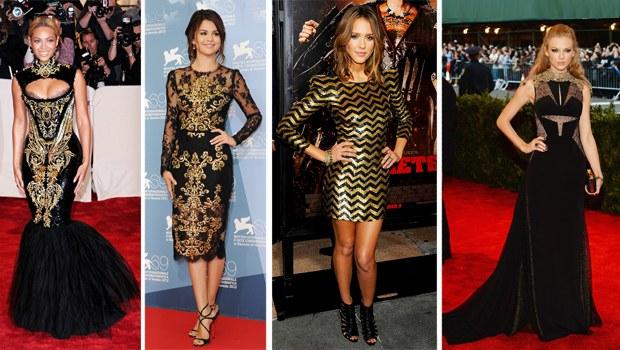 En 'Moda' Barok Siyah ve Altın Rengi Kıyafetler