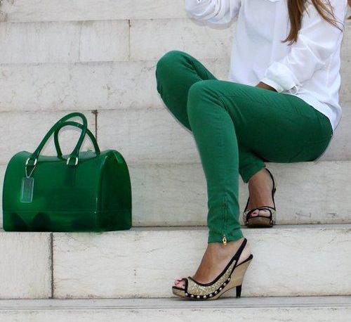 Koyu Yeşil Şık Furla Candy Bayan Çanta Modelleri