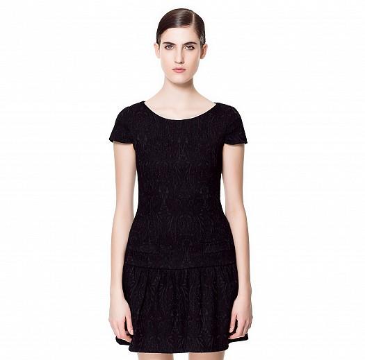 Siyah Dantel İşlemeli Kısa Zara Elbise Modelleri