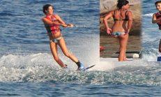 Berrak Tüzünataç'tan su kayağı şovu!