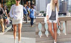 Beyaz 'Spor Ayakkabı' Kombinasyonu