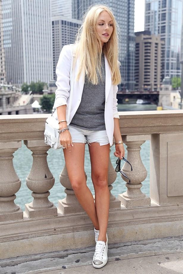 beyaz ayakkabı kombini 2