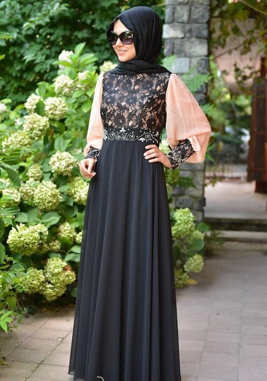 7282221f78b34 Tesettür Abiyeler, Tesettürlü Kadınlar için En Şık Abiye Elbise ...
