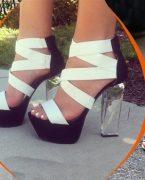 2019 Şeffaf Topuklu Ayakkabı Modelleri