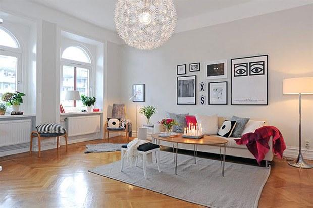 skandinav tarz ev dekorasyon. Black Bedroom Furniture Sets. Home Design Ideas