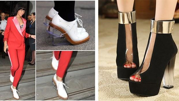 şeffaf topuklu ayakkabı 1