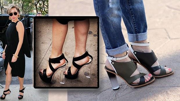 şeffaf topuklu ayakkabı 2