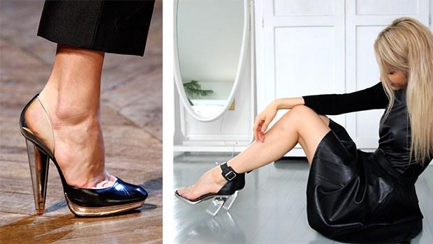 şeffaf topuklu ayakkabı 4