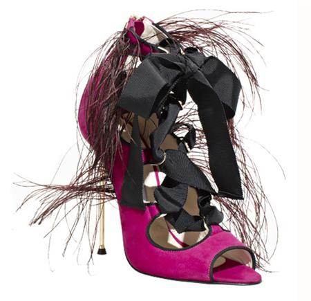 Sıra Dışı Metal Topuklu Brian Atwood Ayakkabı Modelleri
