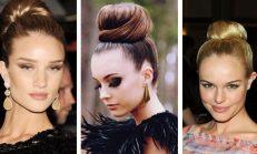 En trend saç modeli balerin topuzu