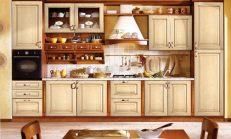 Mutfakta açık raf tasarımı