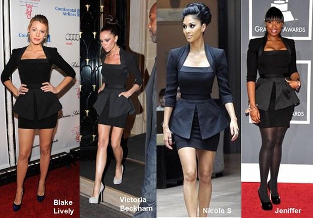 süslü siyah elbise