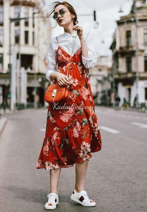 Yaz Stili için Çiçek Desenli Elbise Modelleri
