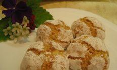 Bademli, portakallı kurabiye