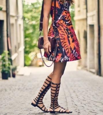 Gladyatör sandalet stili