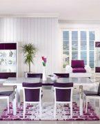 Yemek odasında beyaz dekorasyon etkisi!