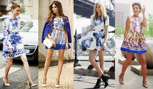 Porselen Desenli Elbise Trendleri