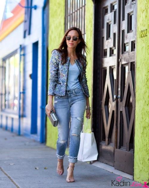 Jean Kot Pantolon Paçalarını Kıvırma Yeni Moda Akımı