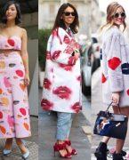 Trend Alarmı: Romantik Dudak Baskılı Elbise ve Çantalar