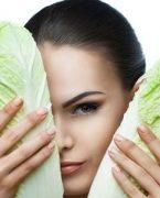 Yüz kırışıklıkları için lahana maskesi