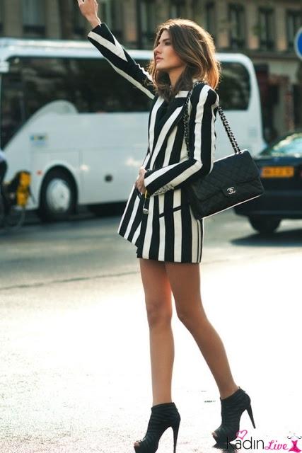 bfcb203e49283 Böyle çizgili kıyafetler genellikle ilkbahar-yaz sezonunda moda olur. Ama  çizgili aksesuarlar yılın tüm ayları için modadır. Gelin, sezonun en trend  siyah ...