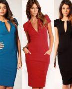 2019 Diz Altı Elbise Modelleri Enjoy Tasarımlar