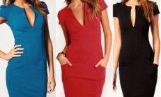 Diz Altı Elbise Modelleri Enjoy Tasarımlar